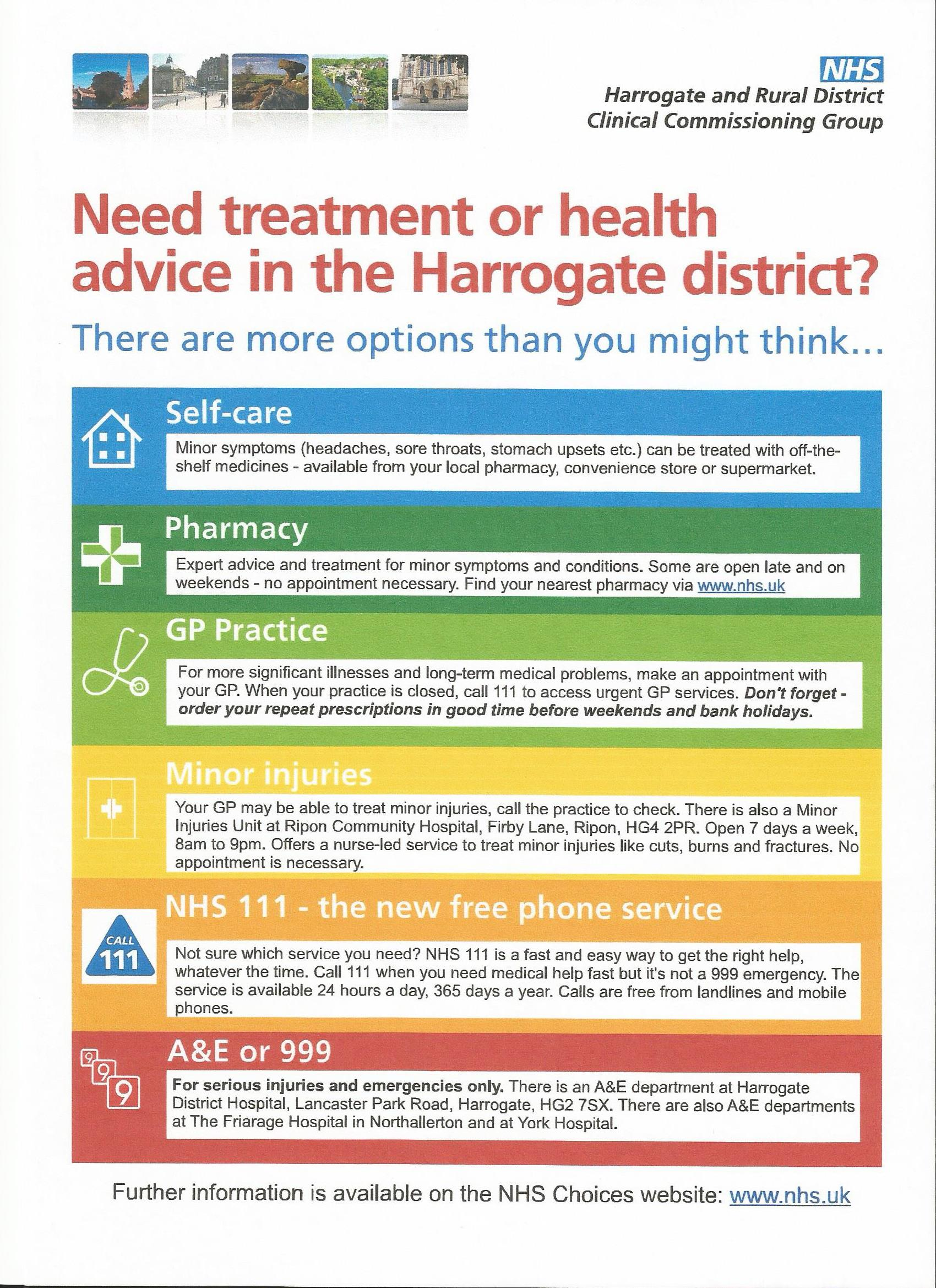 CCG Health advice and teatment scan