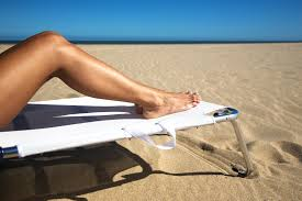 Sunbathing leg