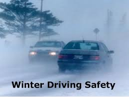 Winter driving - safety scene