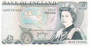 5 pound note - old