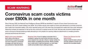 Corona virus scam