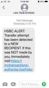 HSBC scam reduced