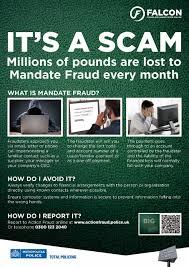 Scam - mandate fraud