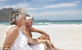 Couple on silver sand